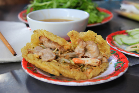 Banh Khoai or Hue Happy pancakes
