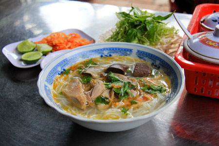 Bun Mang Vit or Duck and Bamboo Noodle Soup