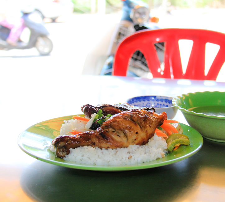 Com Tam Ga Nuong or Vietnamese Grilled Pork and Broken Rice
