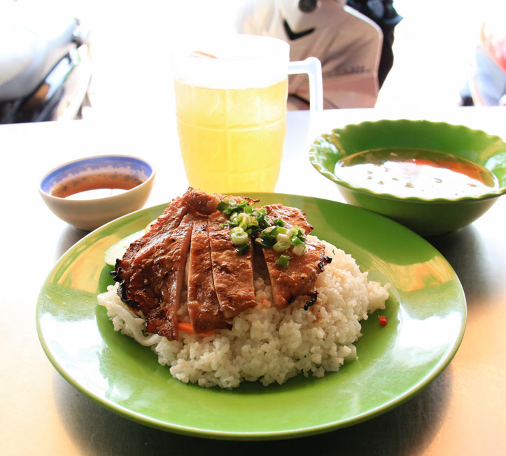 Com Tam Suon Nuong or Vietnamese Grilled Pork Chop and Broken Rice