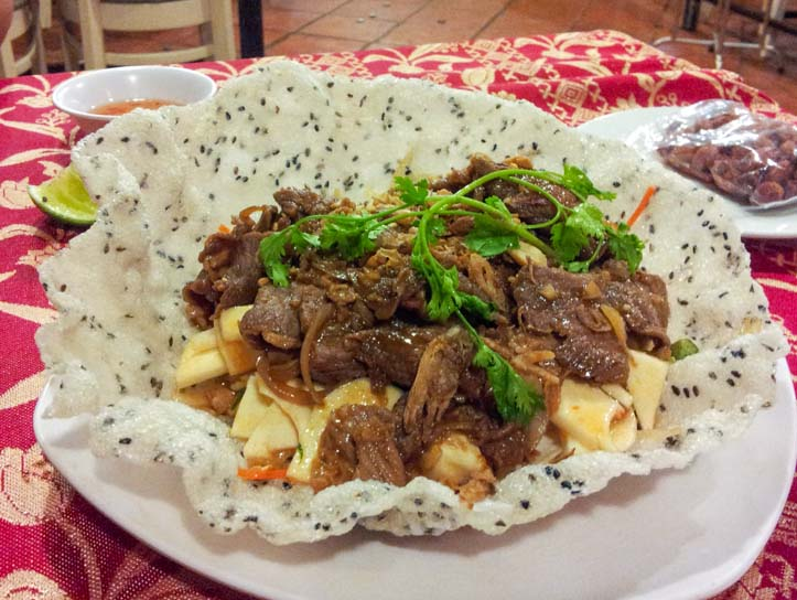 Goi Co Hu Dua Thit Bo or Beef and Palm Heart Salad