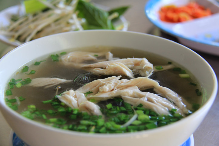 Mien Ga or Chicken Glass Noodle Soup
