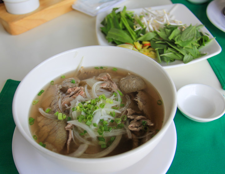 Pho Bo or Vietnamese Beef Noodle Soup